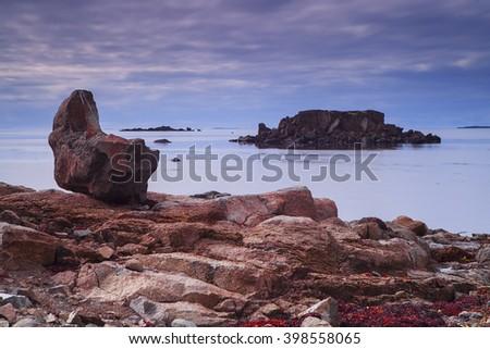 Seal bay, typical summer landscape of Westfjords, Iceland - stock photo
