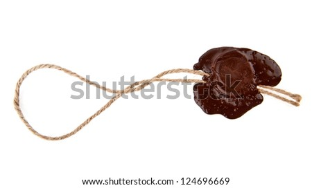seal is isolated on a white background - stock photo