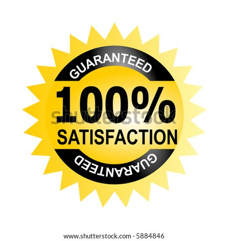 Seal 100% satisfaction guaranteed - stock photo