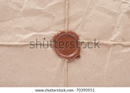 Sealed post packing - stock photo