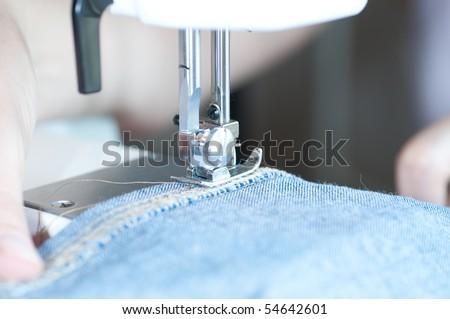 seam machine - stock photo