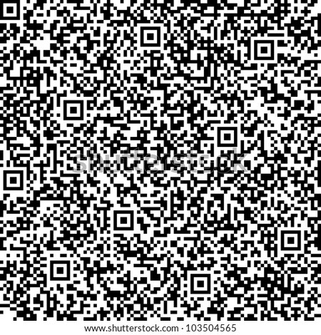 Seamless abstract background with QR code pattern - stock photo