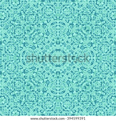 Seamless Abstract Background with Symbolical Floral Pattern. , Contains Transparencies.  - stock photo