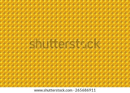 seamless abstract beige pattern sand texture with golden balls with brown line on beige background raster - stock photo