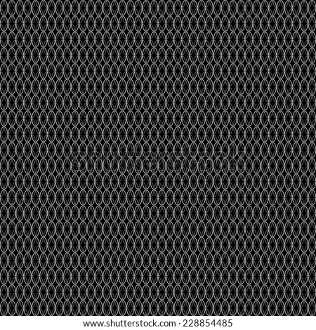 seamless abstract black white pattern black white texture with white ellipse on black background raster - stock photo