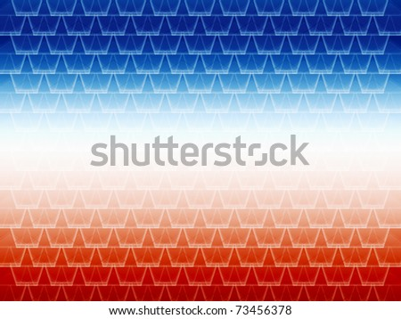 seamless abstract blue and red graphic cell shapes with white gradient in the center