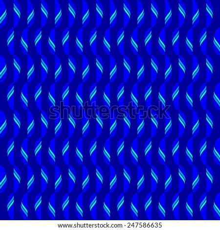 seamless abstract blue cyan pattern blue cyan texture with cyan line with blue leaf on navy background raster - stock photo