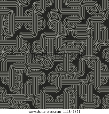 Seamless abstract dark pattern - stock photo