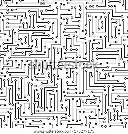computer circuit board pattern vector seamless stock