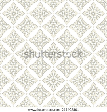 Seamless abstract floral pattern.Light geometric   texture. - stock photo