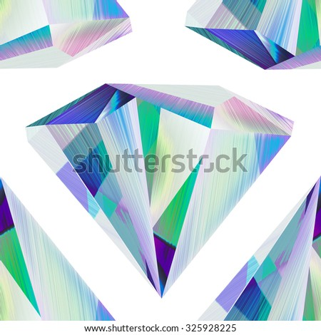 Seamless abstract futuristic crystal background - stock photo