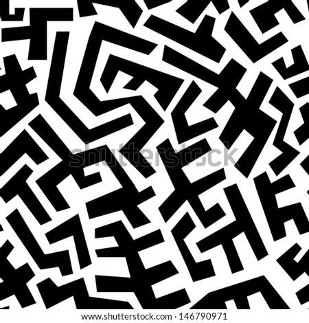 Seamless abstract geometric pattern - stock photo