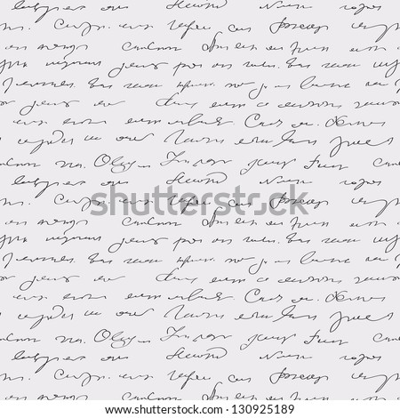 Seamless abstract handwritten text pattern - stock photo