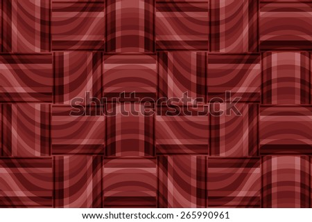 seamless abstract marsala pattern copper texture with rectangle with  magenta line on ginger wicker background raster - stock photo