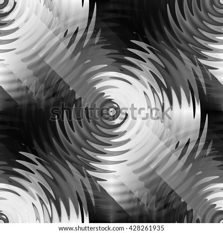 Seamless abstract monochrome ripple in water with concentric circles. Droplet falling in water  - stock photo