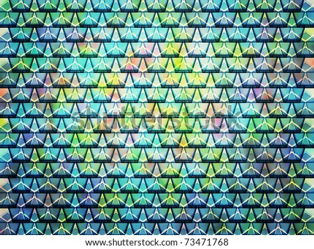 seamless abstract multicolored kaleidoscope honeycomb cell shapes - stock photo