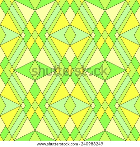 Seamless abstract pattern bright green yellow colors background - stock photo