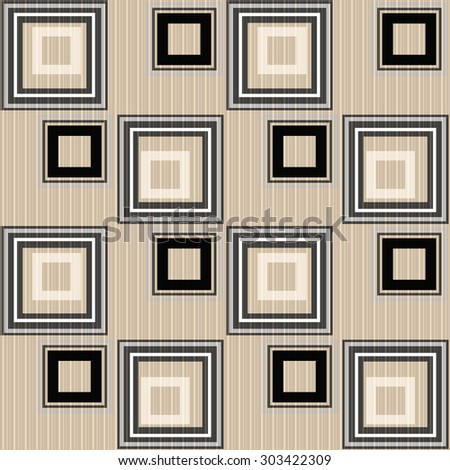 Seamless abstract pattern retro ornament geometric stylish background