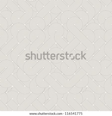Seamless abstract pattern. Twisted lines - stock photo