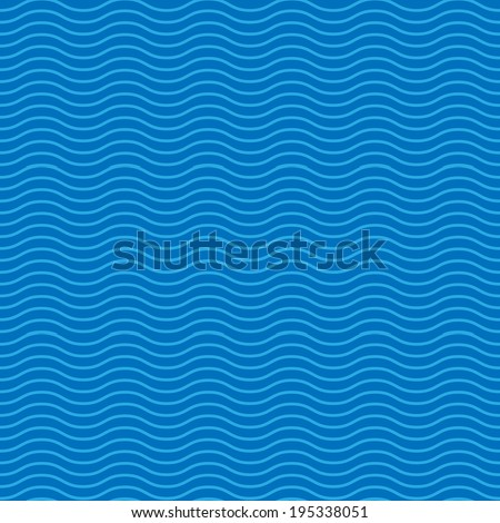 seamless abstract pattern, waves - stock photo