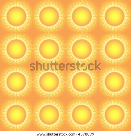 Seamless Abstract 'Suns' design for Background, wallpaper, or Pattern