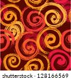 Seamless abstract texture with hand drawn circles. Raster version - stock photo