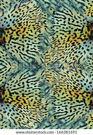 seamless animal skin pattern background - stock photo