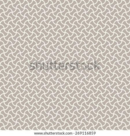 Seamless anthracite gray arc based geometric pattern - stock photo