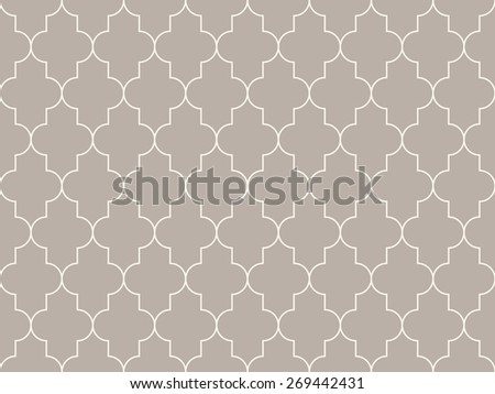 Seamless anthracite gray moroccan pattern - stock photo