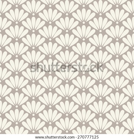 Seamless anthracite gray oriental floral pattern