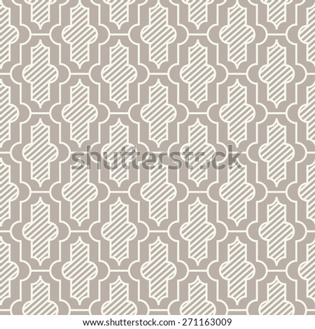 Seamless anthracite gray vintage moroccan pattern - stock photo