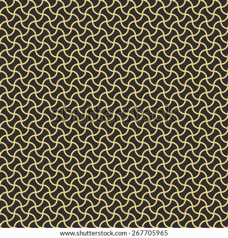 Seamless antique palette arc based geometric pattern - stock photo
