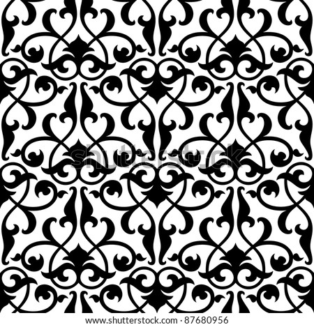 Seamless arabesque background:raster version - stock photo