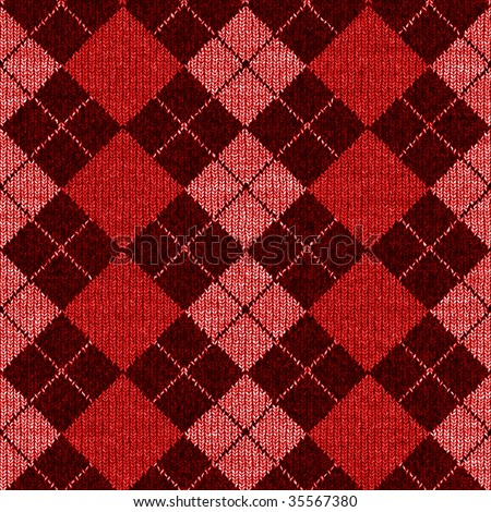 Seamless Argyle Sweater Background, Realistic and Detailed - stock photo