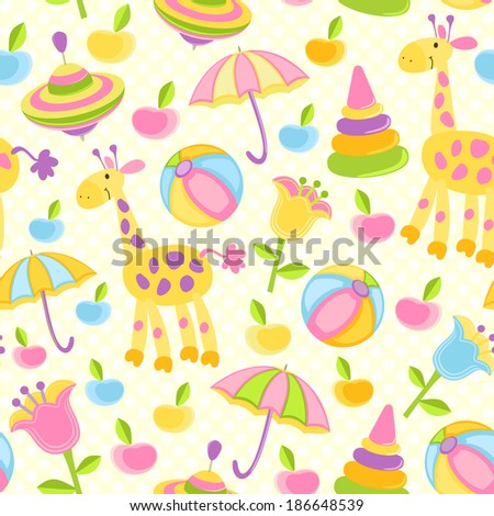 Seamless baby background - stock photo