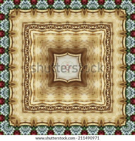 Seamless background, artistic abstract colorful floral pattern, hand-draw painting in oils - stock photo