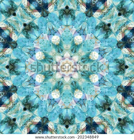 Seamless background, artistic abstract colorful pattern, painting in oils - stock photo