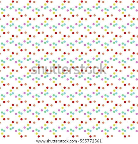Seamless background. Colorful rainbow dots pattern on white background