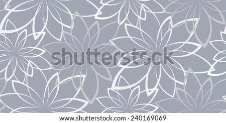 seamless background. Flowers on a light blue background. Vintage - stock photo