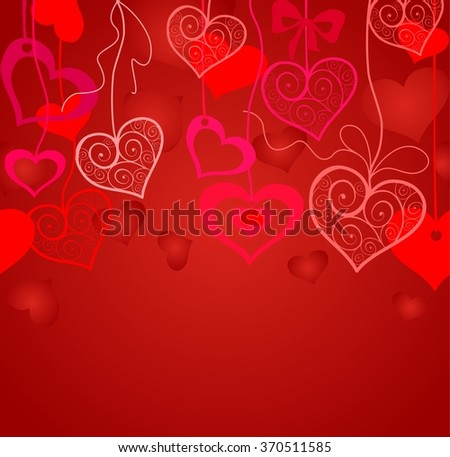 Seamless background for Valentines day - stock photo