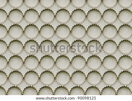 seamless background from bottle stoppers - stock photo