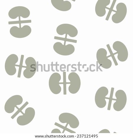 seamless background: kidneys - stock photo
