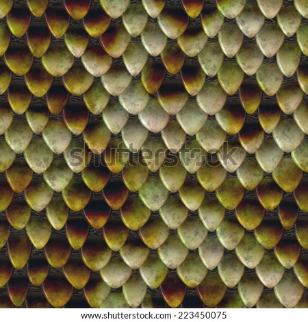 Seamless background made of snake skin - stock photo