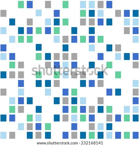 Seamless background. Mosaic of colored squares - stock photo