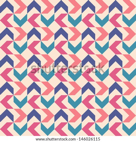 Seamless background of abstract shapes for textiles, interior design, for book design, website background. - stock photo