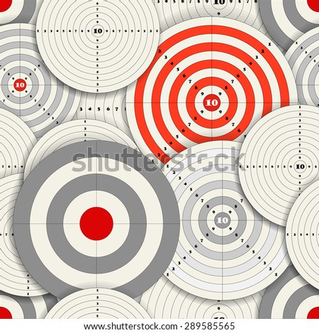 Seamless background of different sizes targets. Raster version