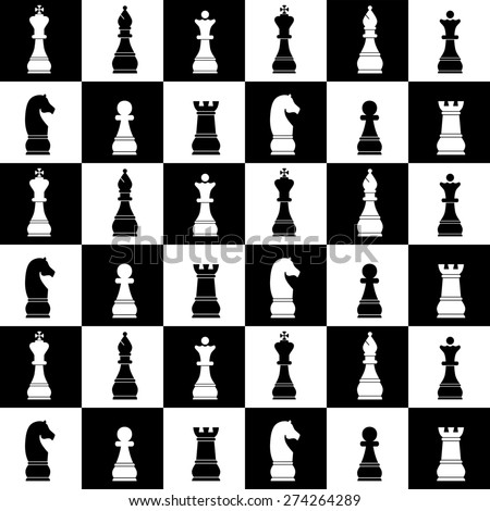 Seamless background on the topic of chess.
