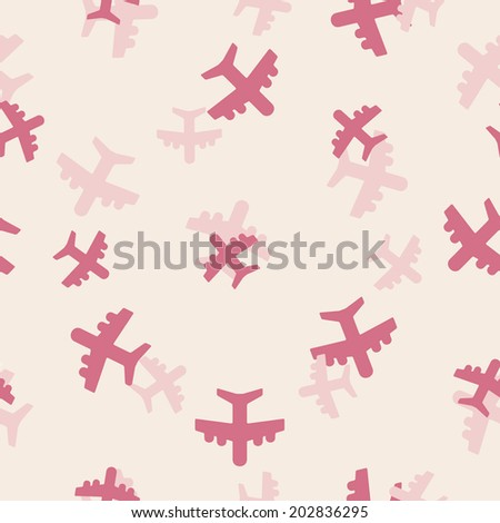 seamless background: plane - stock photo