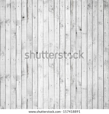 Seamless background texture of old white painted wooden lining boards wall - stock photo