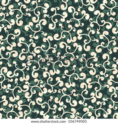 Seamless background texture with floral ornament - stock photo